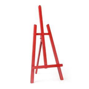 "Red Colour Easel Essex 24"" - Beech Wood"